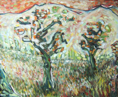 Apple trees in the Alpilles